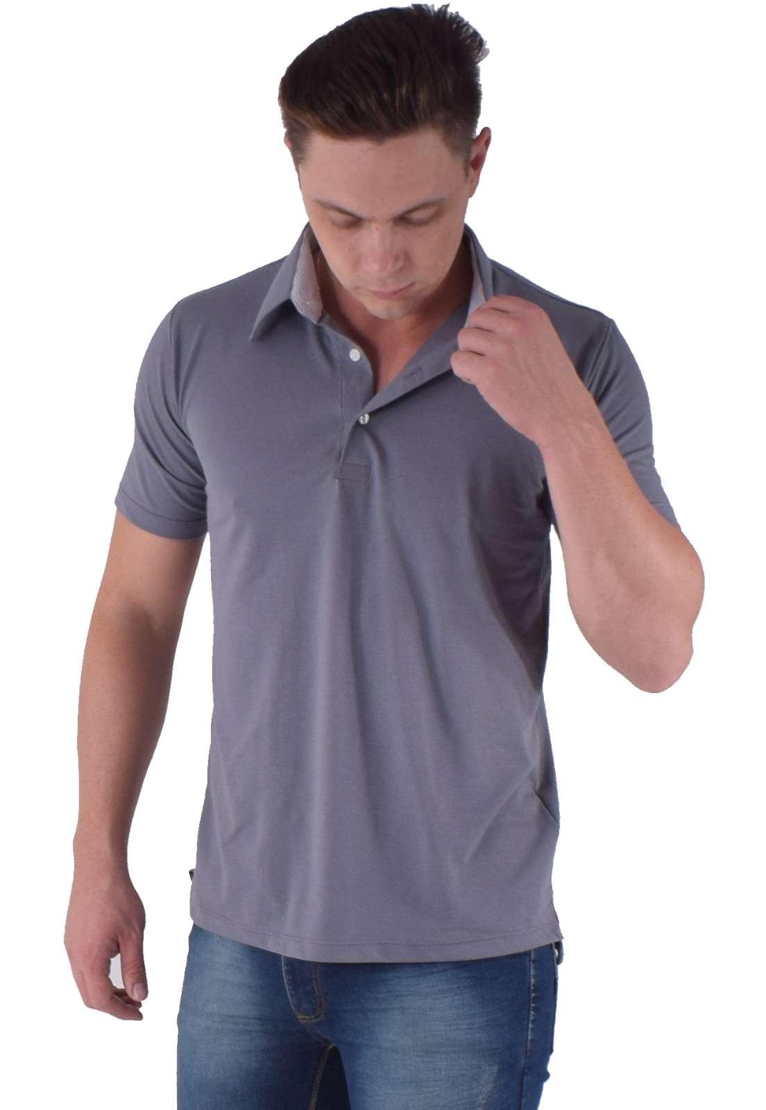 Camisa Polo Cinza Escuro