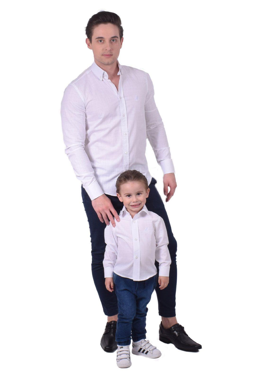 Camisa Social Branca Infanti Slim