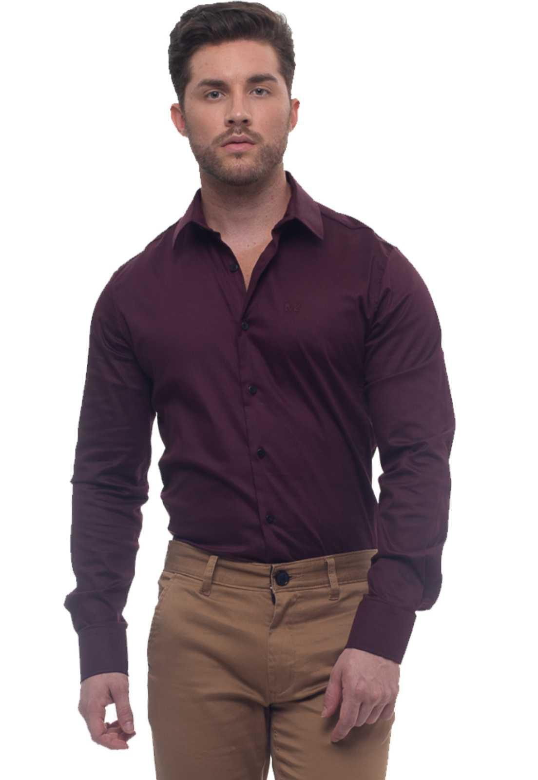 Camisa Vinho