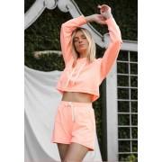 Shorts Moletom Neon Laranja
