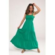 Vestido Longo com Lastex Jasmine Verde