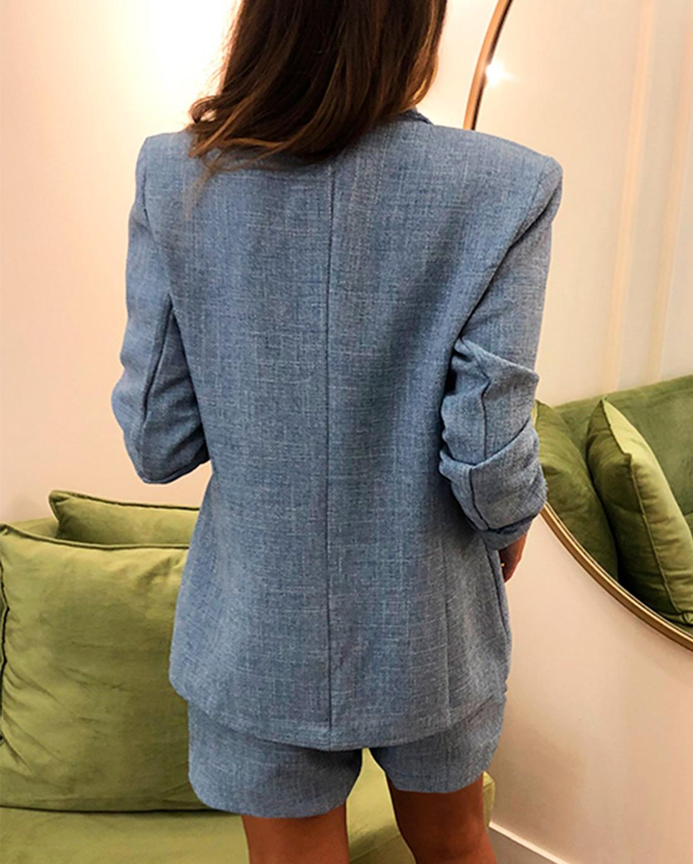 Blazer Tweed Azul