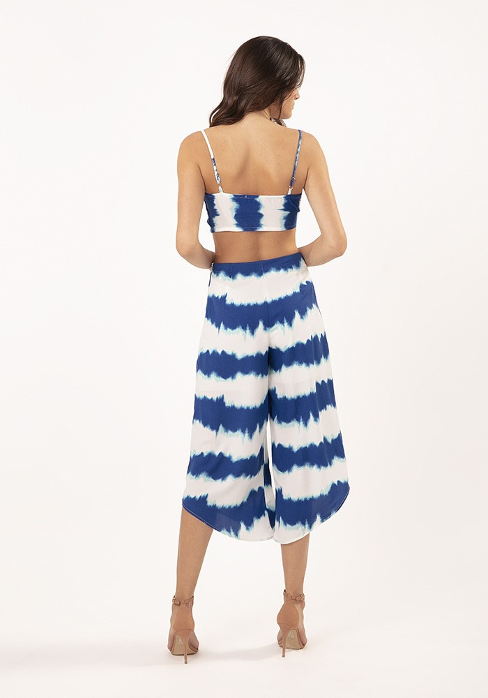 Calça Pantacourt Milan Tie Dye Azul