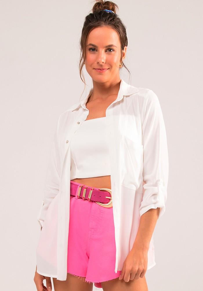 Camisa com Bolso Colors Off