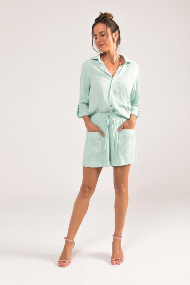 Camisa com Bolso Colors Verde