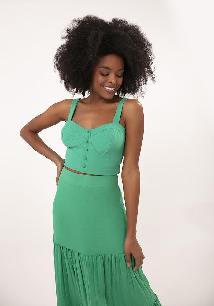 Saia Midi Summer Crush Verde