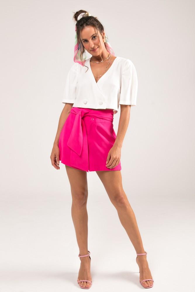 Shorts com Amarração Felix Pink