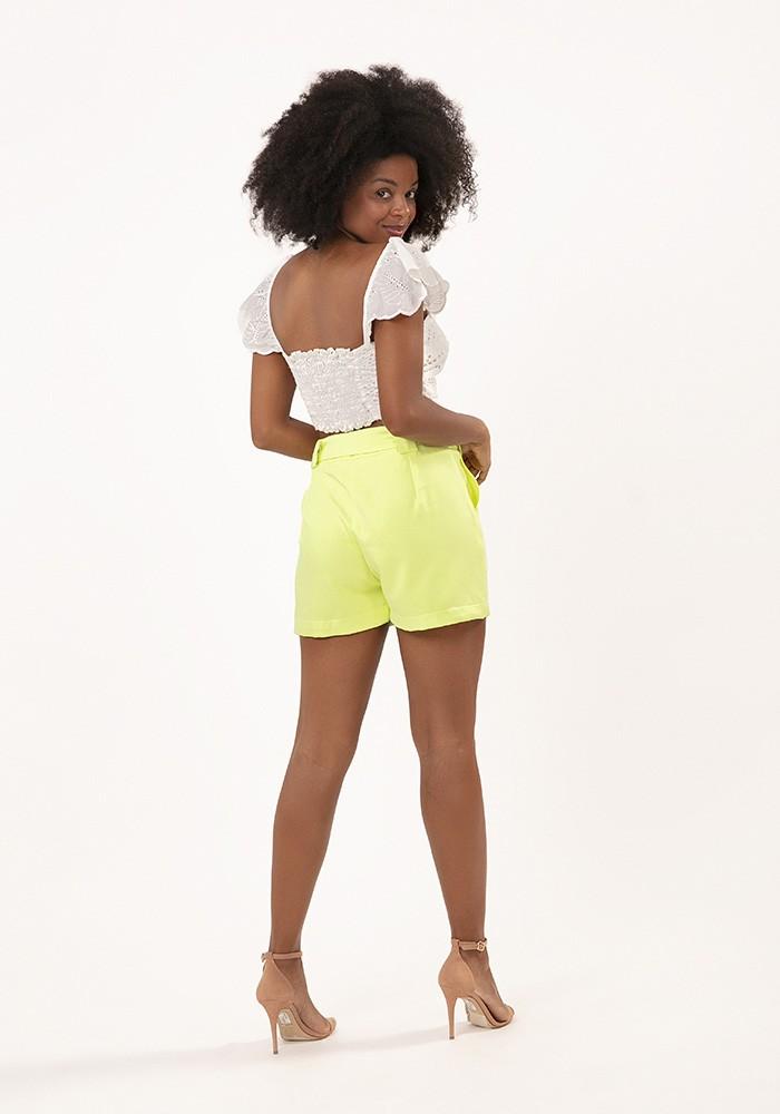 Shorts com Bolso Alfaiataria Verde