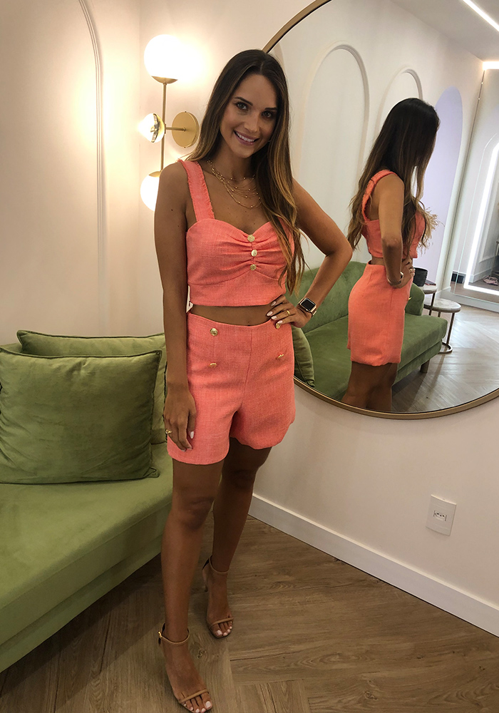 Shorts Tweed Rosa