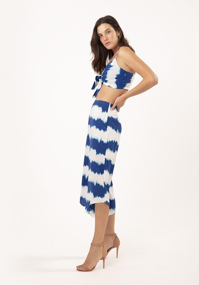 Top com Amarração Milan Tie Dye Azul
