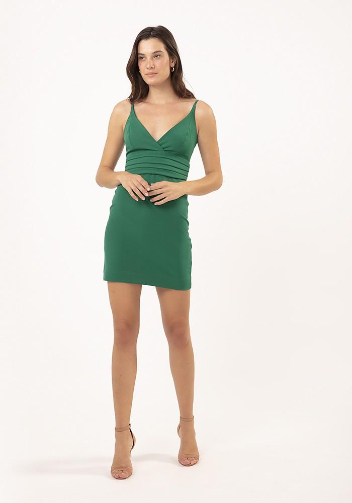 Vestido Alça com Decote Soho Verde