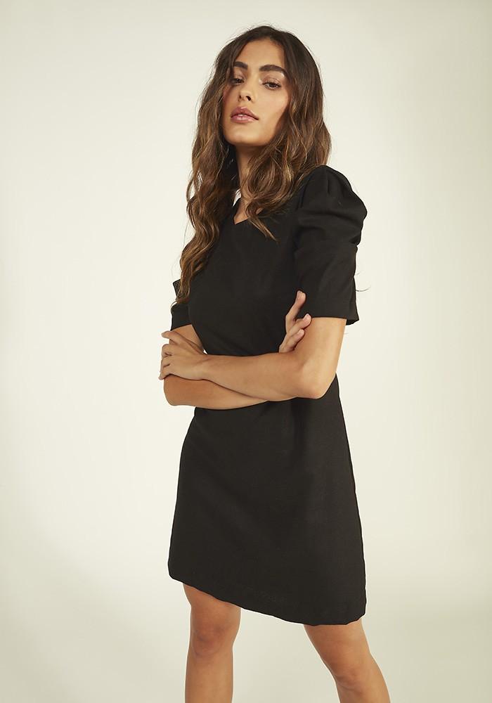 Vestido C/ Mangas Linho Rayon
