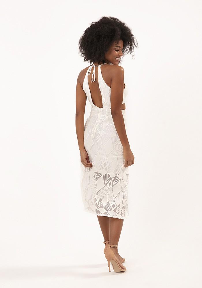 Vestido Midi Carmen Lace Off