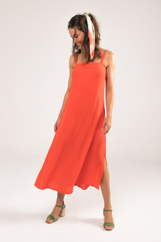 Vestido Midi Tomas Tangerine