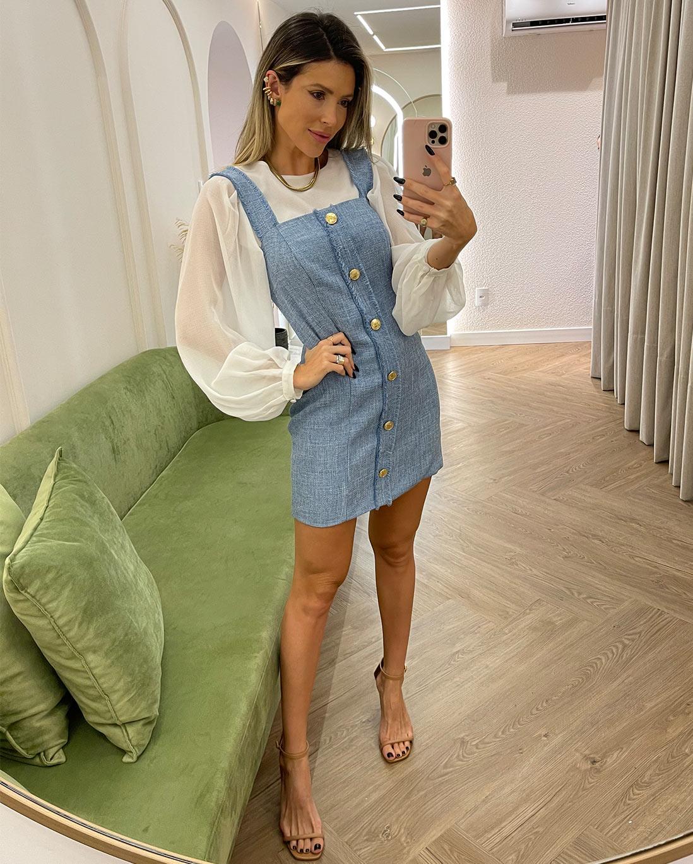 Vestido Tweed Azul