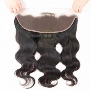 Front Lace Closure Cabelo Humano Liso Castanho
