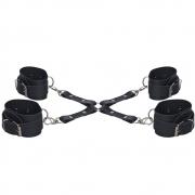 Kit  Bondage Braceletes e Tornozeleiras DX1722
