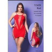 MINI VESTIDO -YAFFA Y3428 RED
