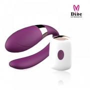Vibrador para casais com controle wireless, recarregável, possui 7 modos de vibração - DB056