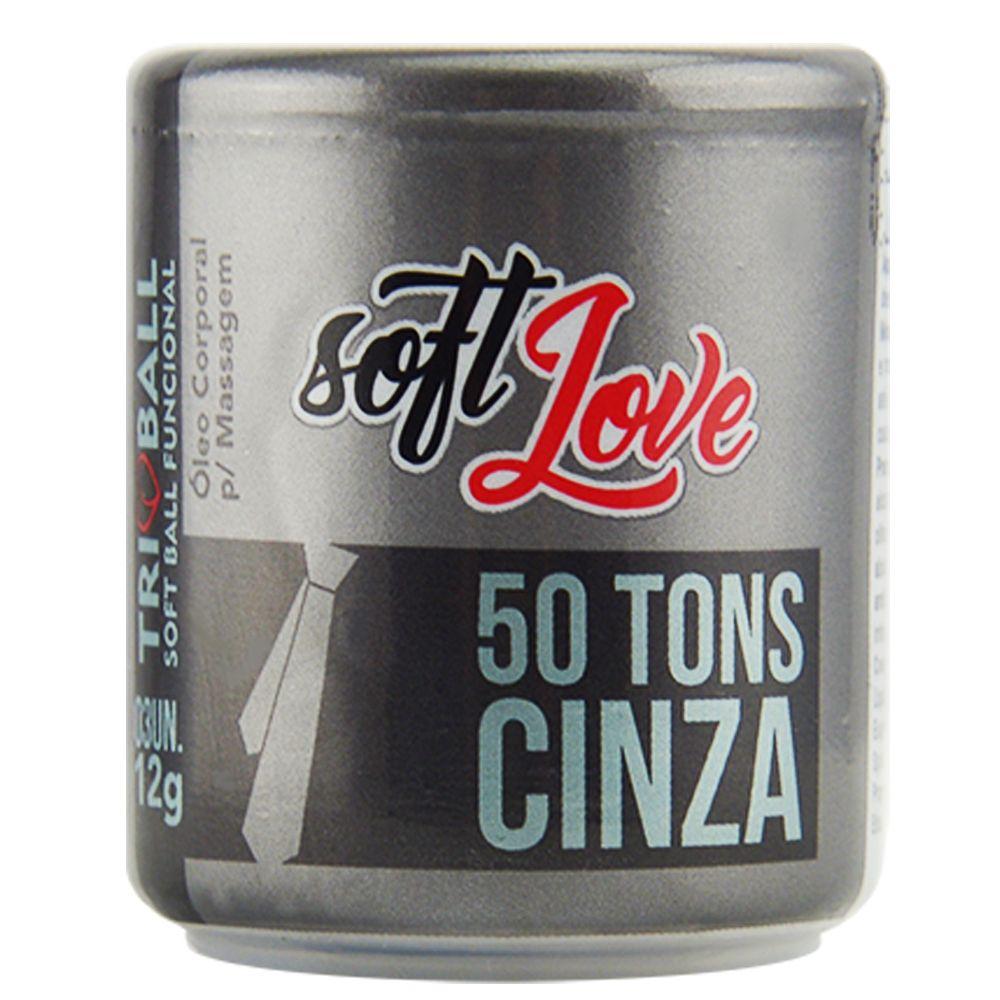 BOLINHA TRIBALL 50 TONS DE CINZA - 03 UNIDADES - SOFT LOVE