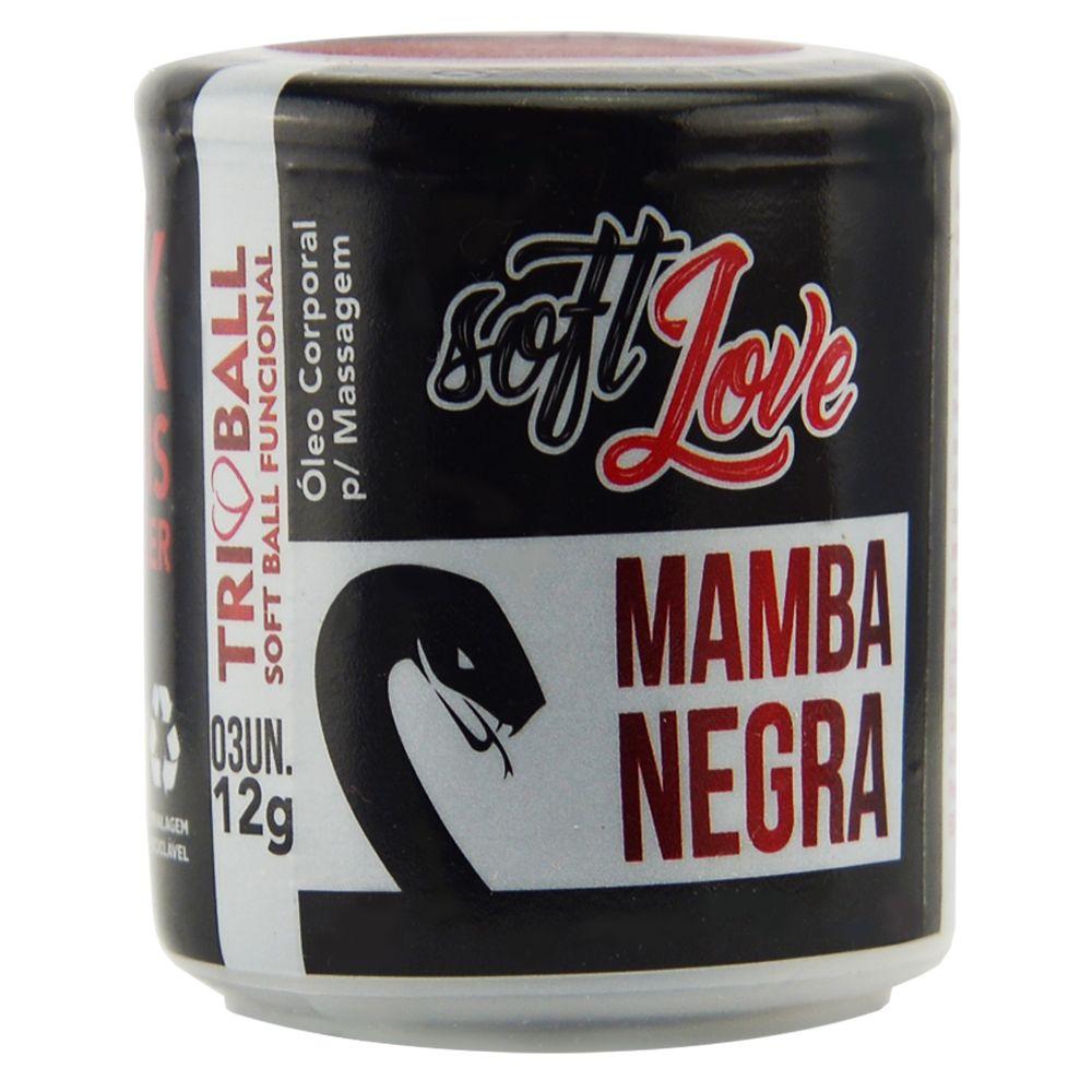 BOLINHA TRIBALL MAMBA NEGRA - 03 UNIDADES - SOFT LOVE