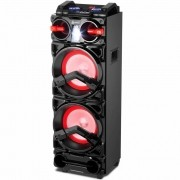 Caixa Amplificada Lenoxx, Display Digital, Fm, Bluetooth, Usb, Auxiliar, Cartão Sd, Led Light, Karaoke, 1000W rms