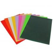 Capa Para Encadernação Textura Couro Tamanho A4 Com 100 Unidades - Selecionar Cor - Verso