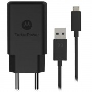 Carregador Original Motorola Turbo Power Qc3.0 Micro USB 10W - Carrega Rápido - Preto