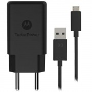 Carregador Original Motorola Turbo Power Qc3.0 Micro USB - Carrega Rápido - Preto