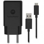 Carregador Original Motorola Turbo Power Qc3.0 Micro USB 18W - Carrega Rápido - Preto