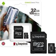 Cartão de Memória KINGSTON Micro SD 32GB Classe 10 Com Adaptador SD Canvas Select Plus