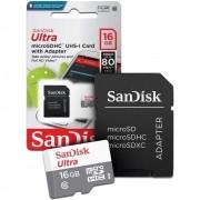 Cartão De Memoria Microsd Class10 16gb Original Sandisk