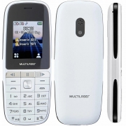 Celular Multilaser Up Play Dual Chip, Câmera, MP3, Rádio FM, Bluetooth, Lanterna - Branco - P9077