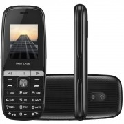 Celular Multilaser Up Play Dual Chip, Câmera, MP3, Rádio FM, Bluetooth, Lanterna - Preto - P9076