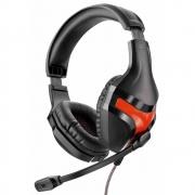 Fone De Ouvido Headset Gamer Warrior  Preto/Vermelho PH101