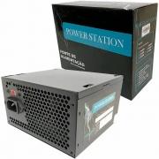 Fonte Atx 500w Real 24 Pinos Ps-500w Power Station com Cabo de Alimentação