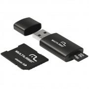 Kit 3 Em 1 Cartão Micro Sd 16gb + Adaptador + Leitor Usb Mc112 - Class10