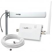 Kit Repetidor e Amplificador de Sinal de Celular Aquário RP-2160 2100MHz 60dB