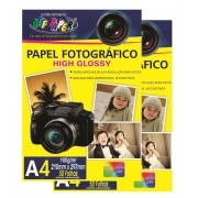 Papel Fotográfico High Glossy 180g A4 50 Folhas Off Paper