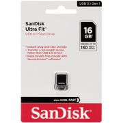 Pen Drive 16GB Ultra Fit USB 3.1 Preto - SanDisk