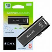 Pen Drive Sony Retrátil 8gb Usm8gr - Preto