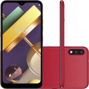 """Smartphone LG K22+ 64GB Dual Chip Android 10 Tela 6.2"""" Quad Core 4G Câmera 13MP+2MP - Vermelho"""
