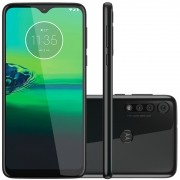 "Smartphone Motorola Moto G8 Play Preto Onix 32GB, Tela Max Vision de 6.2"" HD+, Câmera Traseira Tripla, Android 9.0 e Processador Octa-Core"