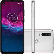 "Smartphone Motorola One Action XT2013-1 128GB, 4GB RAM, Tela de 6.3"", Câmera Traseira Tripla, Octa-Core, Leitor Digital, Android 9.0 - Branco Polar"