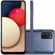 Smartphone Samsung Galaxy A02s 32GB 4G Wi-Fi Tela 6.5'' Dual Chip 3GB RAM Câmera Tripla + Selfie 5MP - Azul