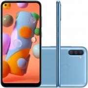 Smartphone Samsung Galaxy A11 64GB 4G Wi-Fi Tela 6.4'' Dual Chip 3GB RAM Câmera Tripla + Selfie 8MP - Azul