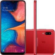 """Smartphone Samsung Galaxy A20 32GB Dual Chip Android 9.0 Tela 6.4"""" Octa-Core 4G Câmera Dupla 13MP + 5MP - Vermelho"""