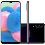 "Smartphone Samsung Galaxy A30s 64GB Dual Chip Android 9.0 Tela 6.4"" Octa-Core 4G Câmera Tripla - Preto"