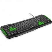 Teclado Multilaser Gamer Multimídia Green Keys USB TC160