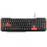 Teclado Multilaser Gamer Multimídia Red Keys USB TC160
